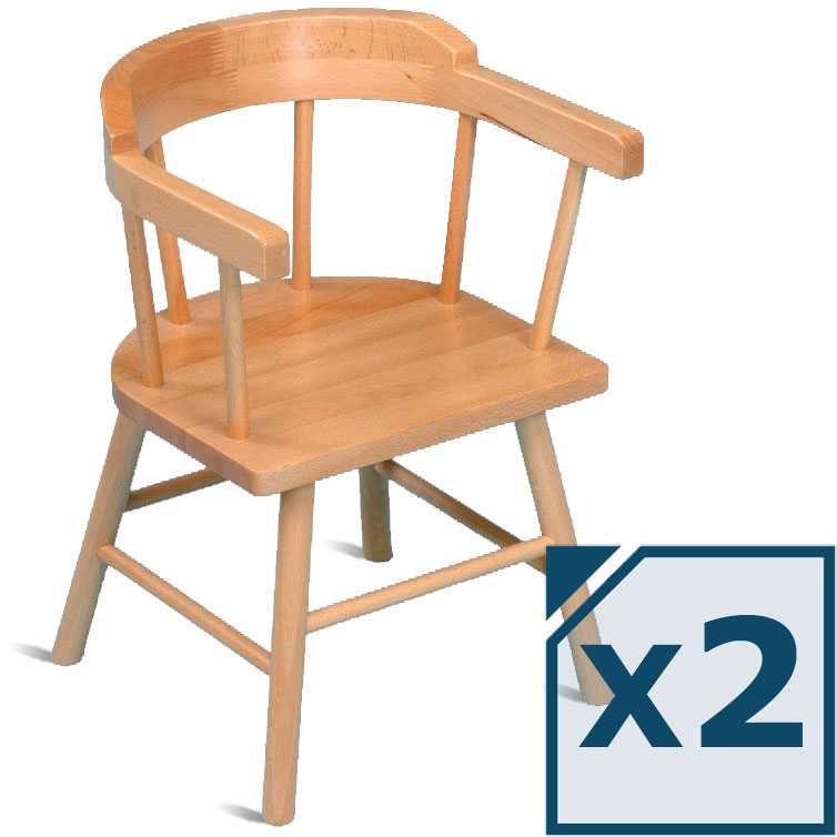 Children s wooden chair with arms chairs seating for Kids seating furniture