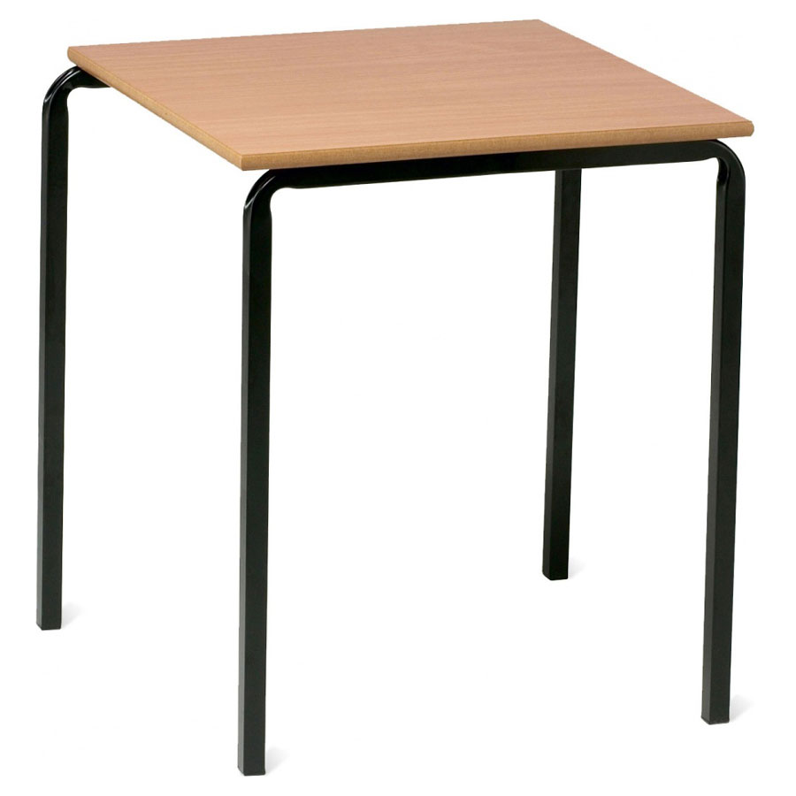 Advanced slide stacking square classroom table for Tables and desks in the classroom